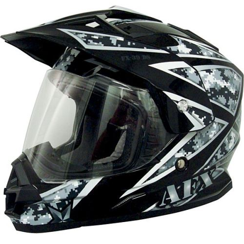 AFX Helmet Peak with Screws for FX39 and FX-39DS Dual Sport Size Flat Black
